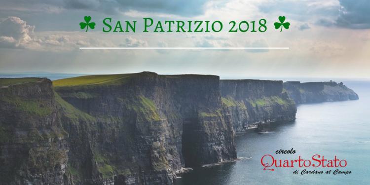 al Circolo Quarto Stato… si celebra la Festa di San Patrizio o Saint Patrick's Day o Paddy's Day o Lá 'le Pádraig