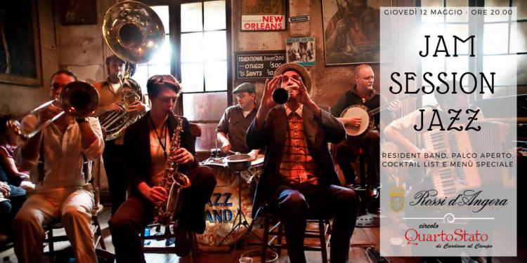 Jam Session Jazz con Rossi d'Angera al Circolo Quarto Stato