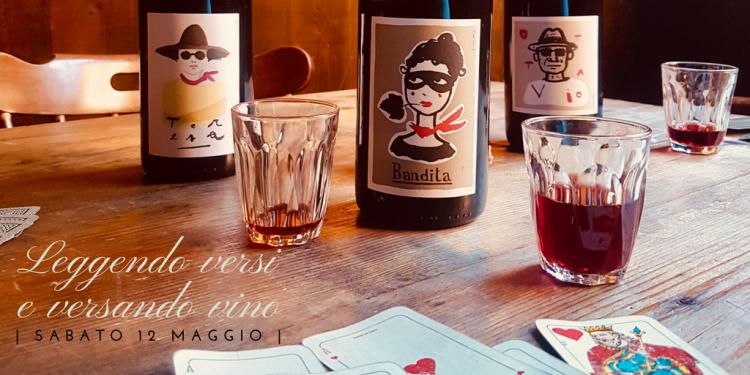POETANDO IN VINO. Leggendo versi e versando vini, Sandy e Gianni ci introdurranno alla poetica del vino con le loro voci e l'aiuto di qualche bicchiere.