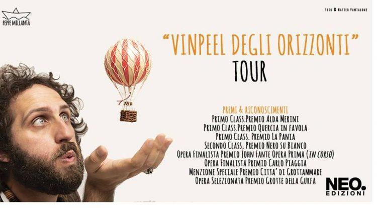 """Sabato 21 luglio presso il Circolo Quarto Stato di Cardano al Campo l'autore Peppe Millanta presenta il suo libro """"Vinpeel degli orizzonti"""". Modera il giornalista Roberto Morandi."""