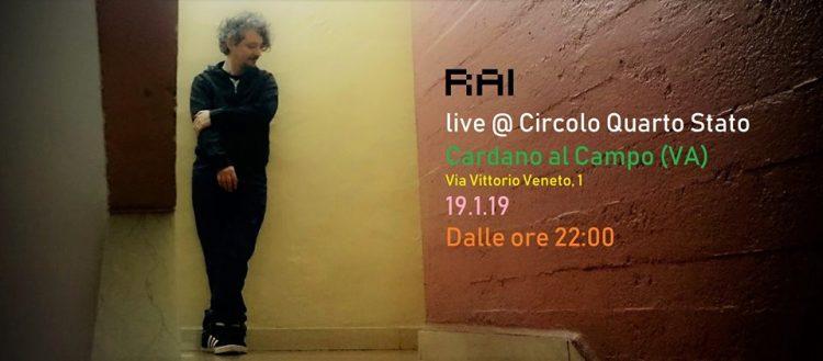 RAI Live   Un progetto alternativo e affascinante. Tra cantautorato ed elettronica. In versione one man band.