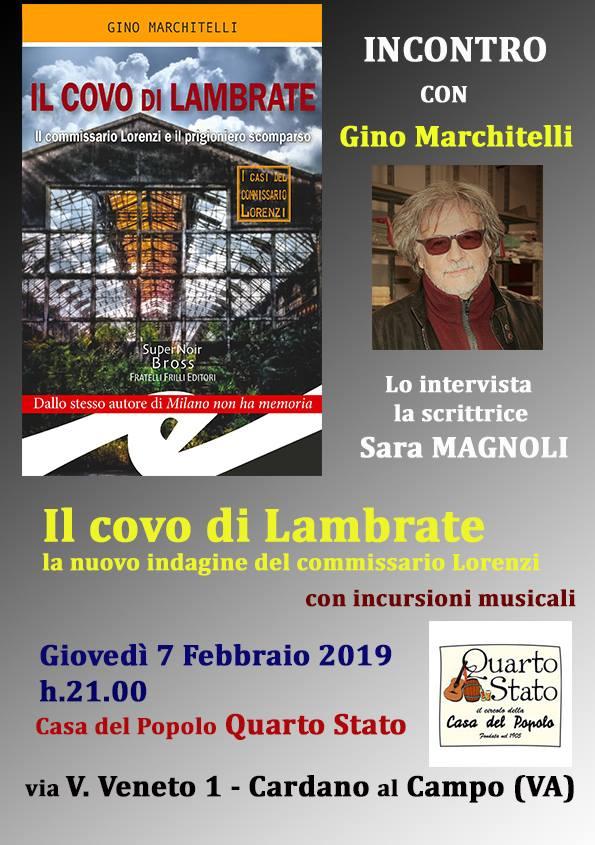 Gino Marchitelli, amico e scrittore, presenta la nuova indagine del Commissario Lorenzi.