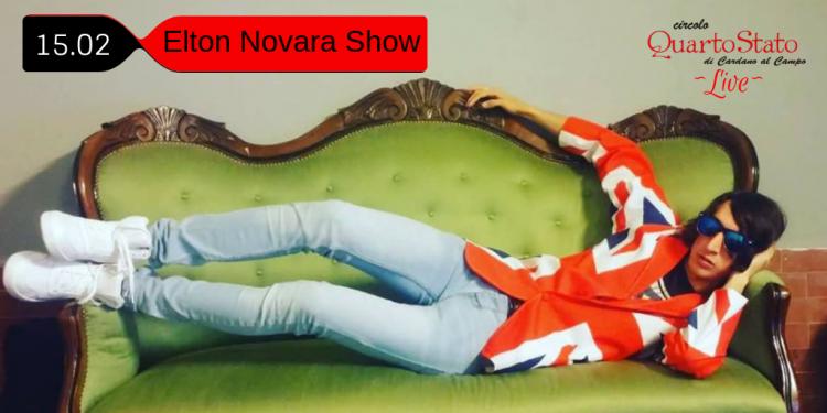Il primo imprescindibile ELTON NOVARA Show. Elton, al Circolo, non s'ha da perdere. Mai.