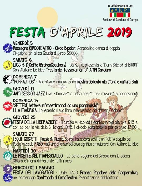 Festa d'Aprile 2019 Circolo Quarto Stato Anpi Cardano resistenza liberazione