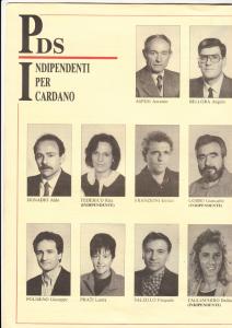 Lista PDS 1993 - Candidati