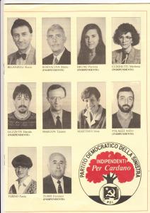 Lista PDS 1993 - candidati 2