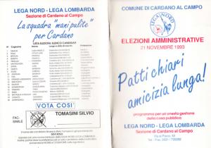 Lega Nord - Volantino Fronte