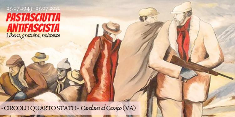 Pastasciutta Antifascista 2021 al Circolo Quarto Stato di Cardano al Campo. Casa del Popolo, anpi, museo cervi, people